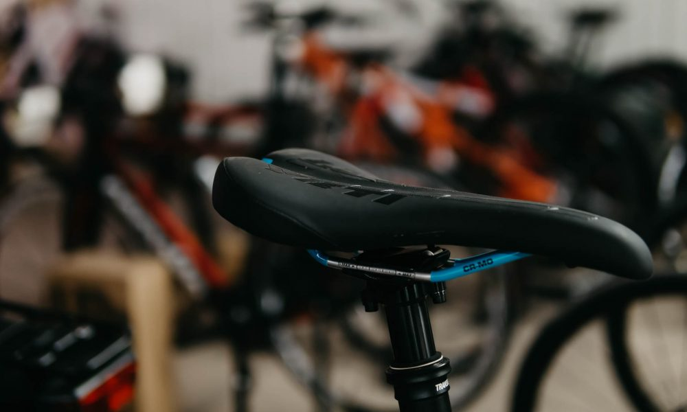 photographie d'une selle de vélo